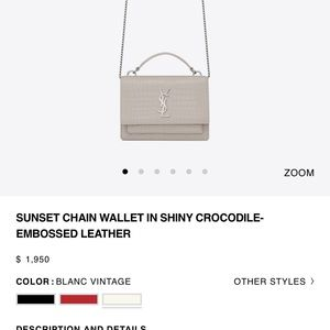 Ysl sunset chain wallet